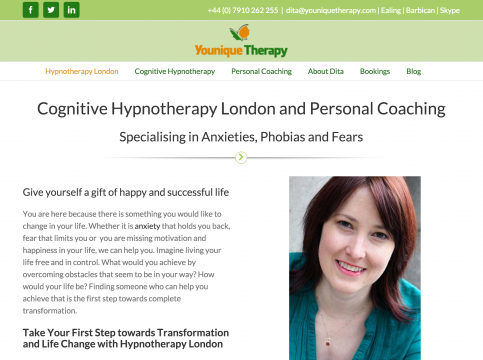 Cognitive Hypnotherapy London and Personal Coaching - youniquetherapy